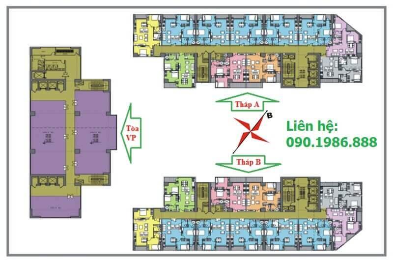 Mặt bằng thiết kế chung cư Central Field 219 Trung Kính