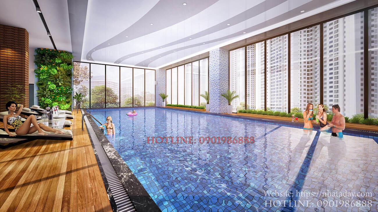 Bể bơi 4 mùa tại tầng 3 chung cư AnLand Nam Cường