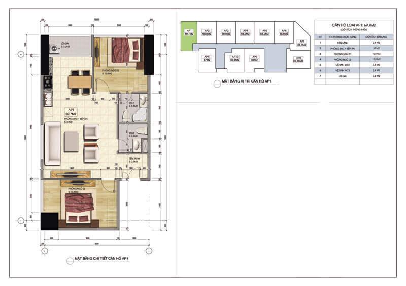 Thiết kế căn góc số 1 chung cư Central Field 219 Trung Kính
