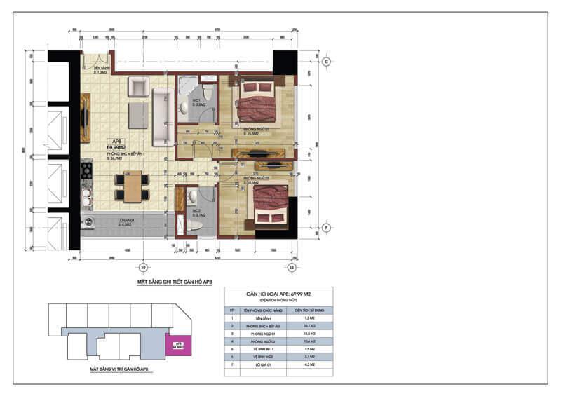 Thiết kế căn góc số 8 chung cư Central Field 219 Trung Kính