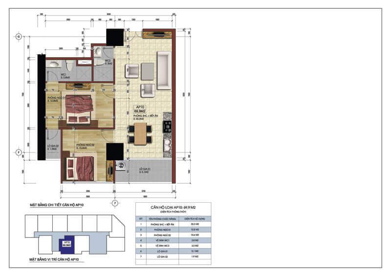 Thiết kế căn hộ số 10 chung cư Central Field 219 Trung Kính