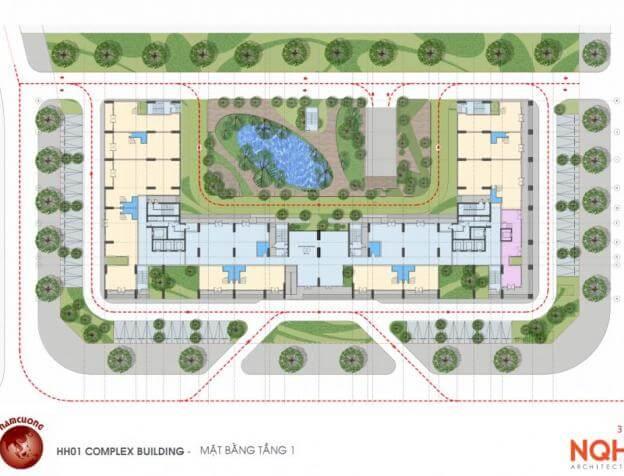 Mặt bằng thiết kế Chung cư HH01 Complex Building Nam Cường Khu đô thị mới Dương Nội