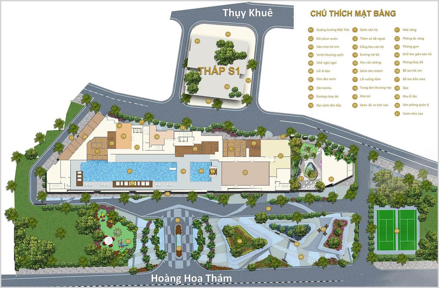 Mặt bằng thiết kế Chung cư Sun Grand City 69B Thụy Khuê